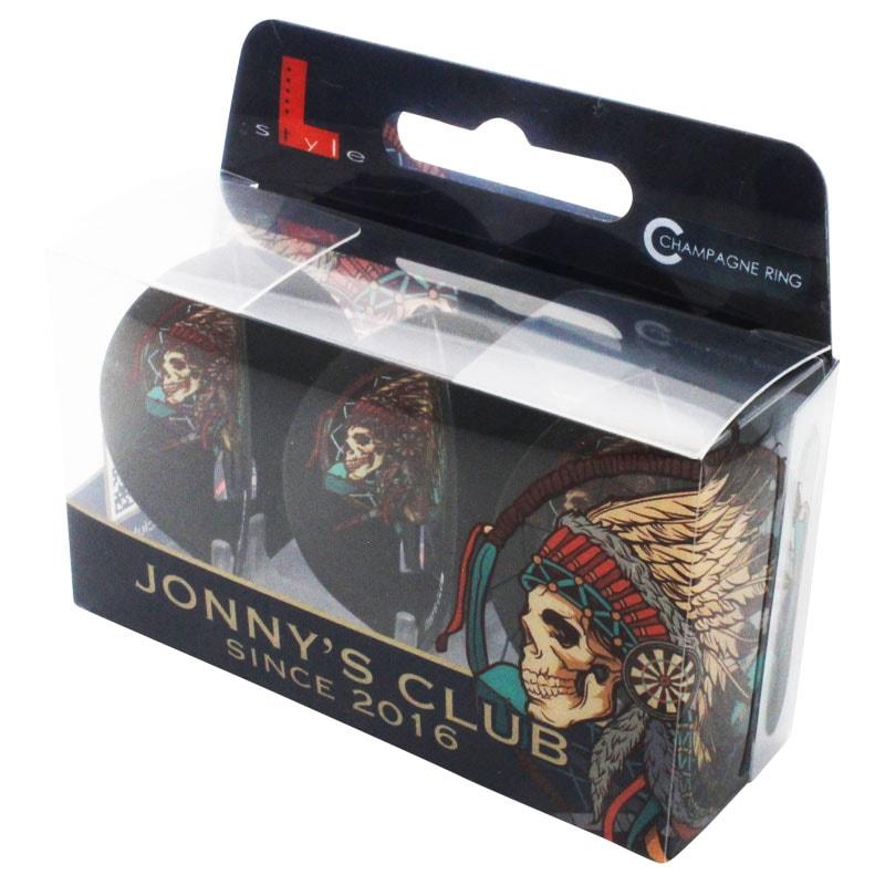 【Jonny's Club】 JONNY×フライトエル シャンパンリング対応 L2(ティアドロップ) 安食賢一 ダーツ用 ブラックベース