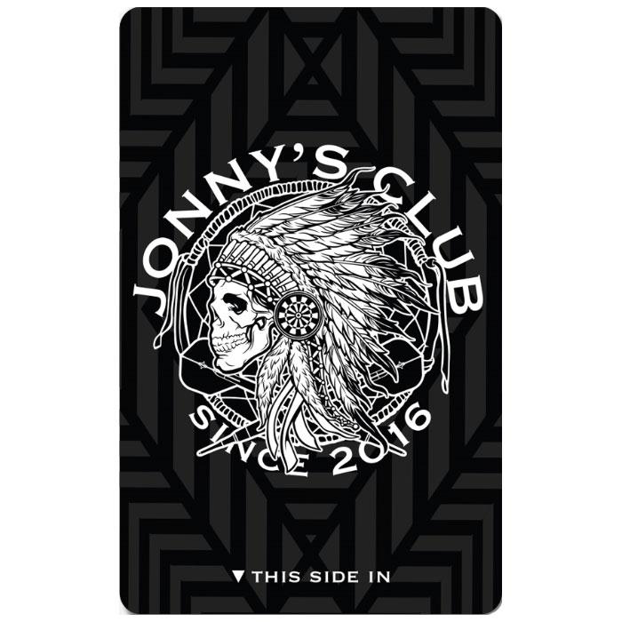 【Jonny's Club】 ダーツライブカード ブラックホワイト ジョニーズクラブ×ゲームカード 安食賢一