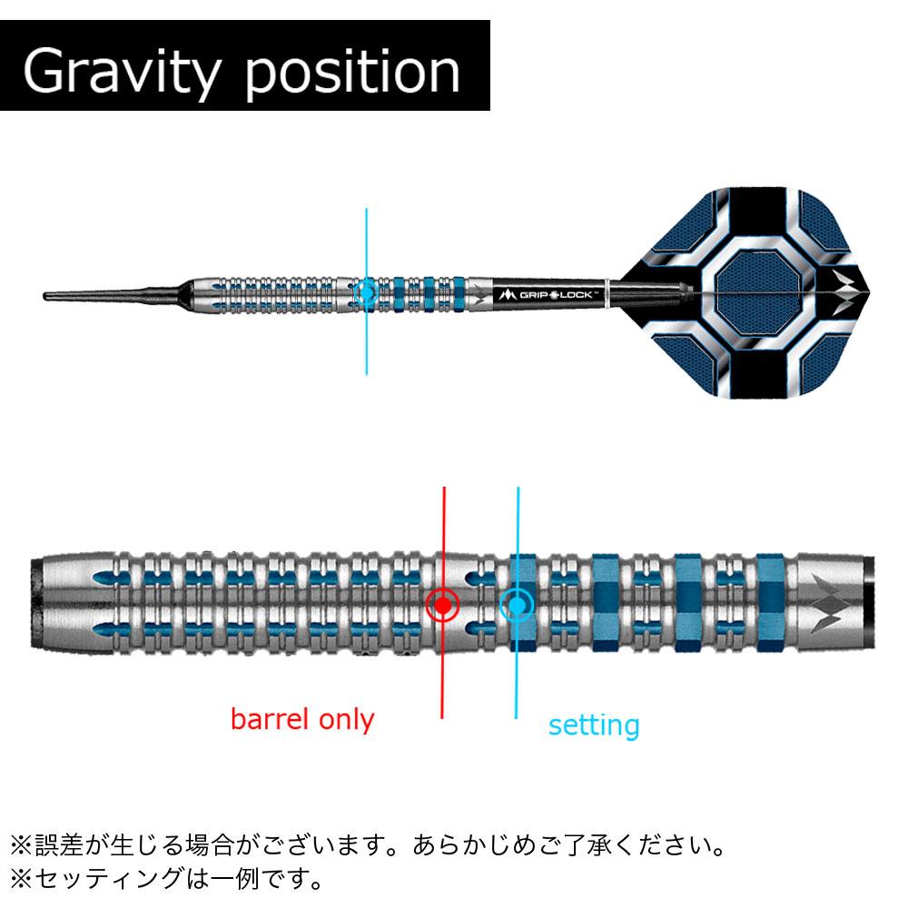 【Mission】KRONOS クロノス M2 ブルー 20g ダーツ