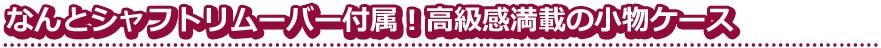 【CAMEO】カメオ TIP AND SHAFT CASE ALUMITE チップ&シャフトケース アルマイト