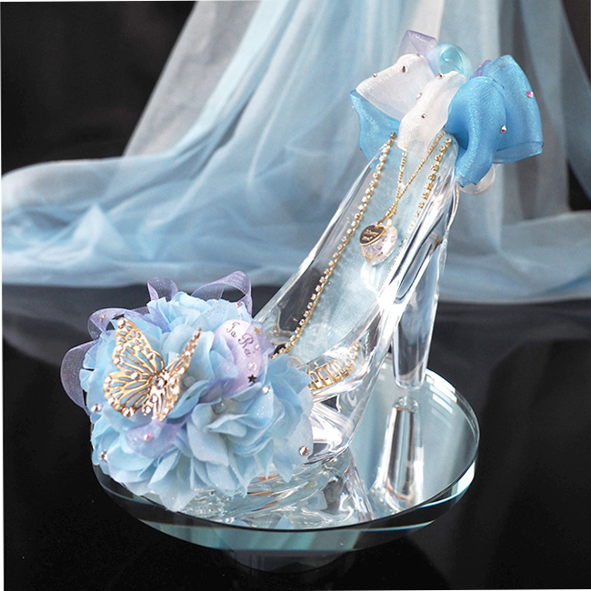 プロポーズ専用ガラスの靴 ブルー