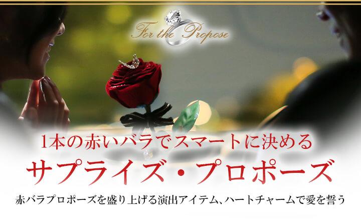 1本の赤いバラでスマートに決める サプライズ・プロポーズ