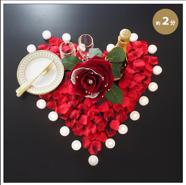 メッセージフラワー 赤バラ キャンドルローズ