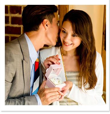 女性の憧れとあなたの優しい思いやりを込めたプロポーズjewel box