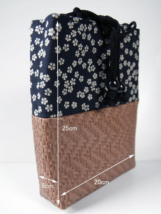 男性用巾着袋 信玄袋【小桜】
