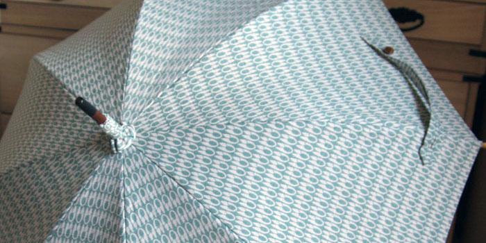 型小紋染 晴雨兼用日傘 UV加工 パラソル 室町はさみ (和柄)