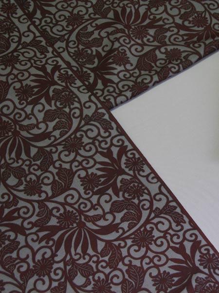 型小紋染 ■きもの(着物・反物)■生つむぎ■ (和柄) (作家) 三橋工房 三橋京子
