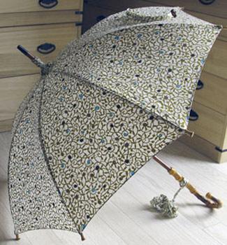 型小紋染 晴雨兼用日傘 UV加工 パラソル たこ唐草 (和柄)