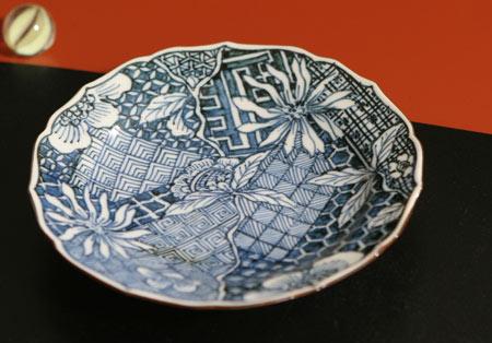 京焼清水焼 赤絵祥瑞草花紋デミタス珈琲碗皿