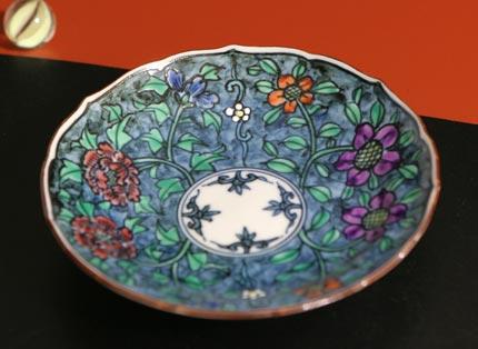 京焼清水焼 赤濃牡丹鉄泉デミタス珈琲碗皿
