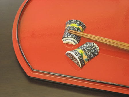 京焼清水焼 箸置き 祥瑞湯呑型(5客)