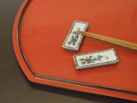 京焼清水焼 箸置き 小皿型・華(5客)