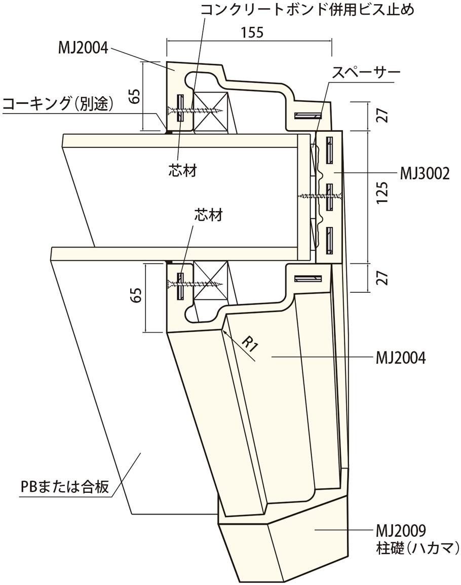 サンメントス開口枠組合せ例