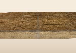 ハンサム天井はり施工手順2の写真 接続部の木目模様を合わせます