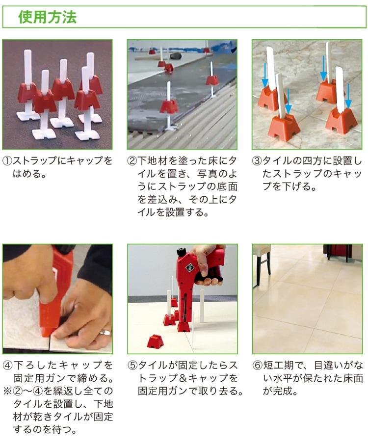 フラットシステムの各種パーツの使用方法