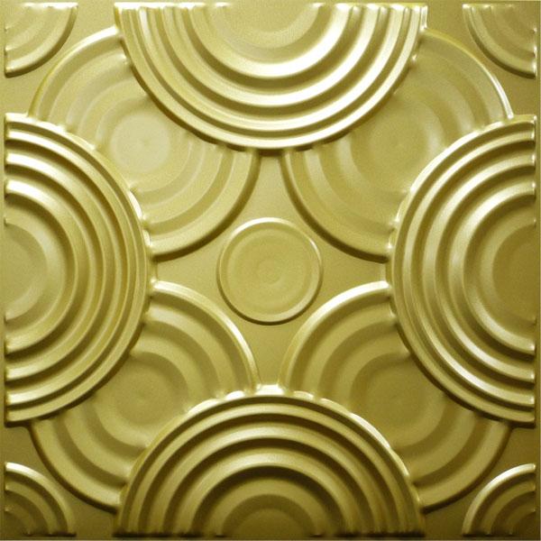 【NDSB5001GL】3Dジン スチール製 金色 1枚 500×500mm