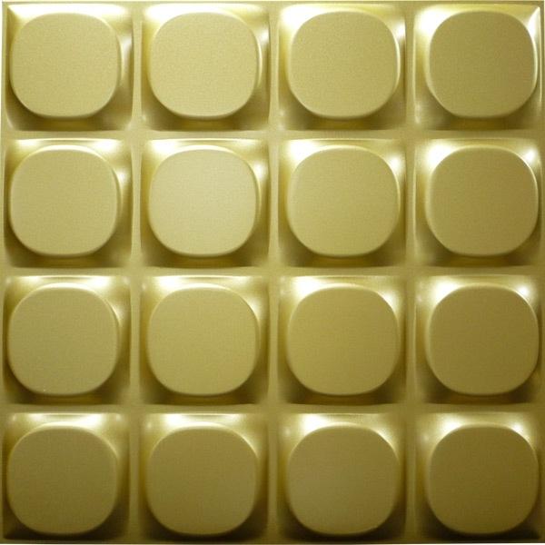 【NDSB5002GL】3Dジン スチール製 金色 1枚 500×500mm
