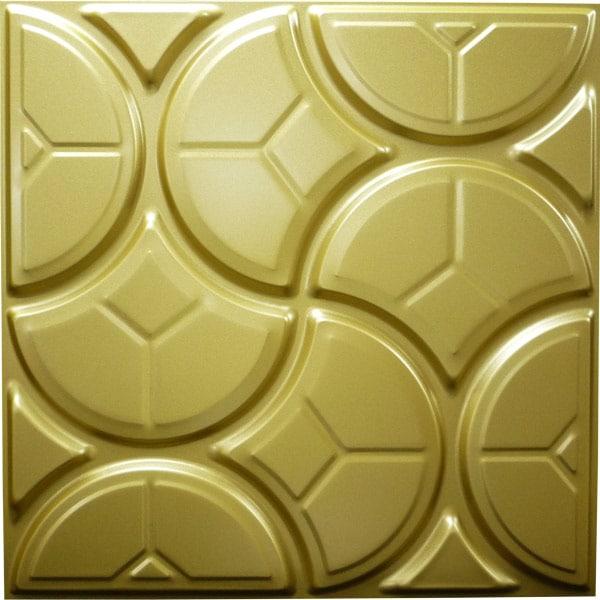 【NDSB5003GL】3Dジン スチール製 金色 1枚 500×500mm
