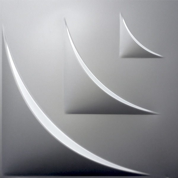 【NDSB5006SL】3Dジン スチール製 銀色 1枚 500×500mm