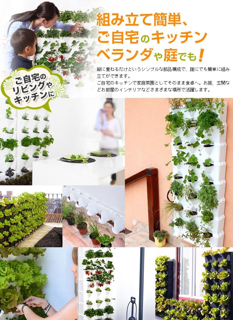 組み立て簡単、ご自宅のキッチンベランダや庭でも!