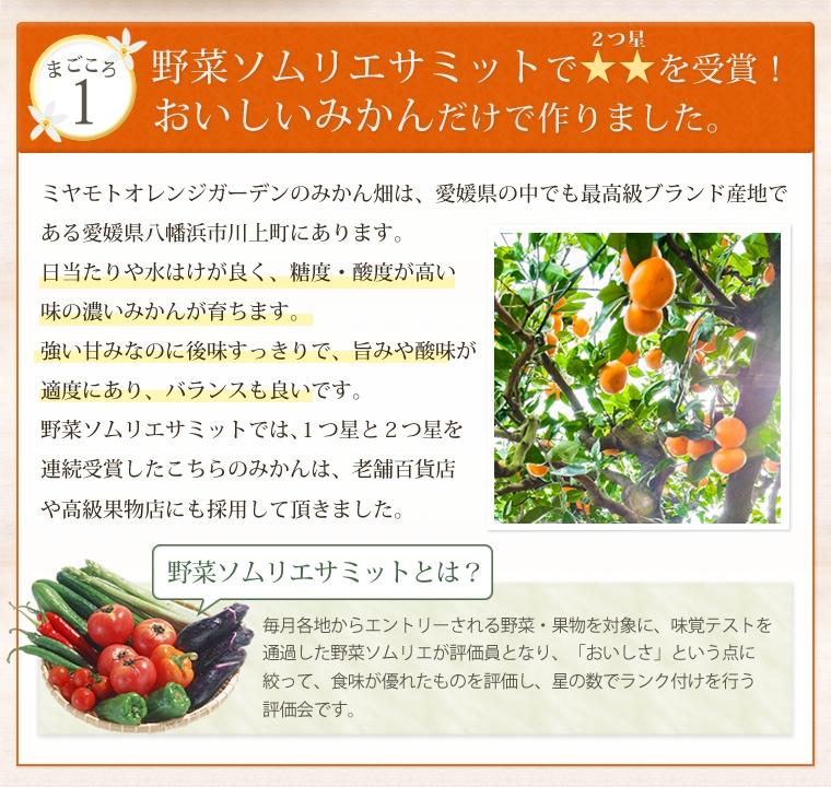 ジュースに使われているみかんは愛媛県西宇和地区の美味しいみかん