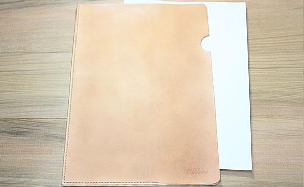 本革レザーファイルA4サイズ【お好みの革色糸色選べます】