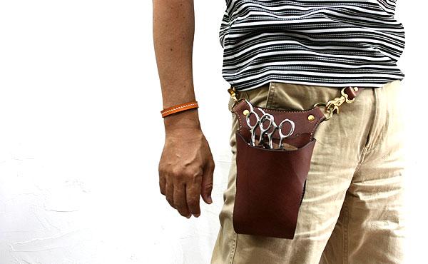 栃木レザーシザーケース 3丁【オーダーメイド お好みの革色糸色選べます】送料無料
