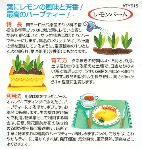 ハーブ種 レモンバーム(0.5ml)
