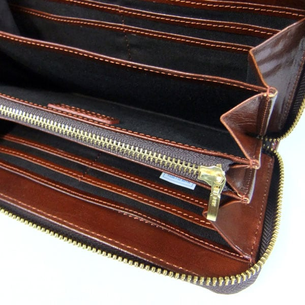 イタリア産高級牛革★デザイン長財布