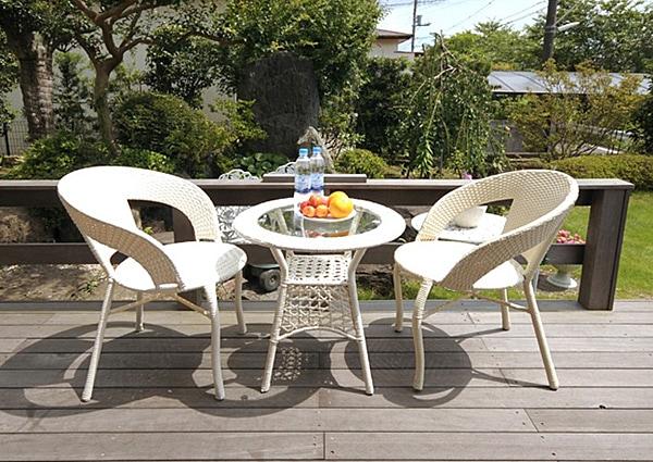 【ガーデンファニチャー】折りたたみ式アルミテーブル
