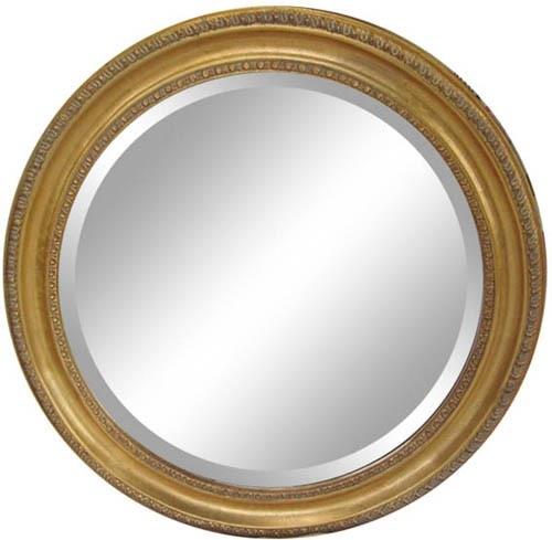 アンティーク調  円型ウォールミラー