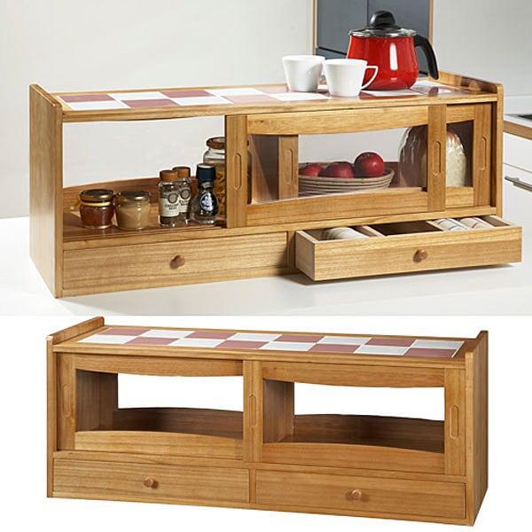 【おしゃれ収納シリーズ】カントリーデザイン・アンティーク調食器棚 align=baseline