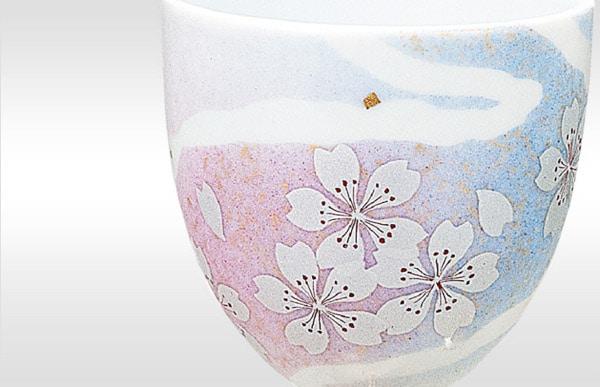 九谷焼ペア・ワグラス<花の舞 >