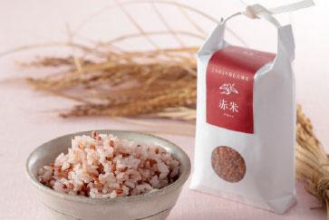 こうのとり育む大地米「赤米」300g