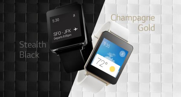 LG G Watch ブラックチタン&ホワイトゴールド