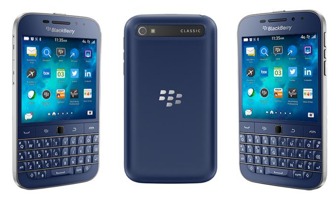 SIMフリースマホ Blackberry Classic ブルー 販売