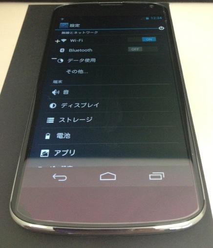 Nexus 4実機 海外Simフリー スマートフォン