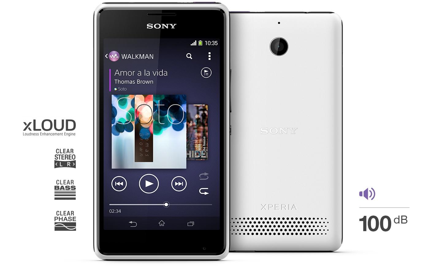 SIMフリースマホ Sony Xperia E1 dual音楽1