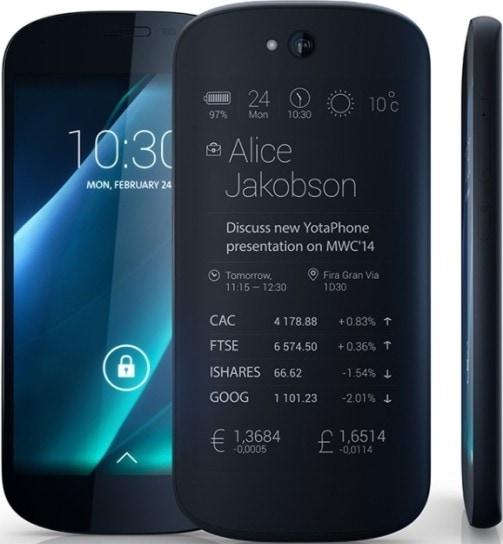 YotaPhone 2 SIMフリー スマホ 販売