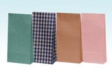 シンプル柄物角底紙袋