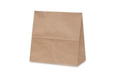 未晒クラフト無地角底紙袋
