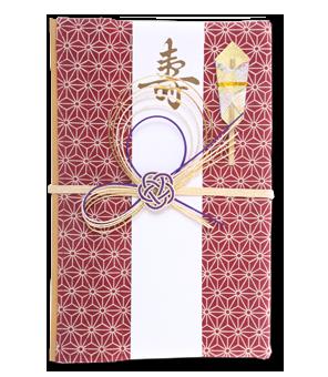 ご祝儀袋 結姫 白梅(コットン)麻乃葉紅