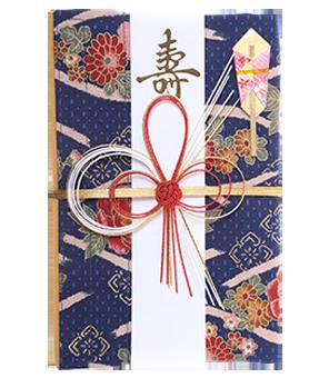 ご祝儀袋 結姫 白梅(コットン)華流瑠璃
