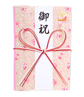 ご祝儀袋 結姫 白梅(コットン)香福小花 蝶