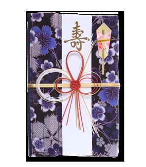 ご祝儀袋 結姫 青竹(ポリエステル)桔梗水桜