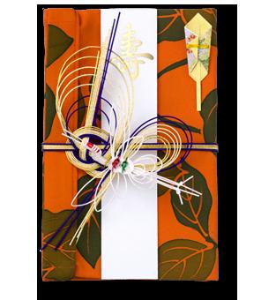 ご祝儀袋 結姫 赤松(シルク)実旨橙