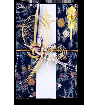 ご祝儀袋 結姫 赤松(シルク)藍四季彩