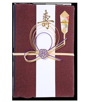 ご祝儀袋 結姫 赤松(シルク)濃赤朱点