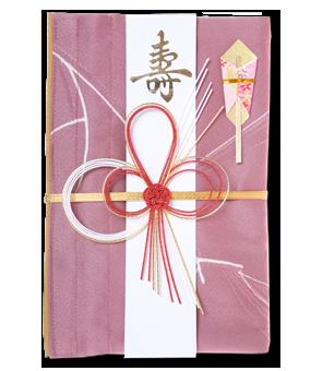 ご祝儀袋 結姫 赤松(シルク)桃枝舞散