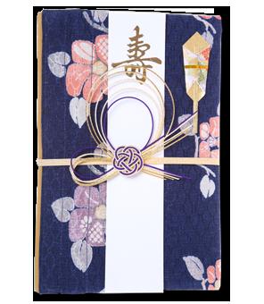 ご祝儀袋 結姫 赤松(シルク)藍柿模様